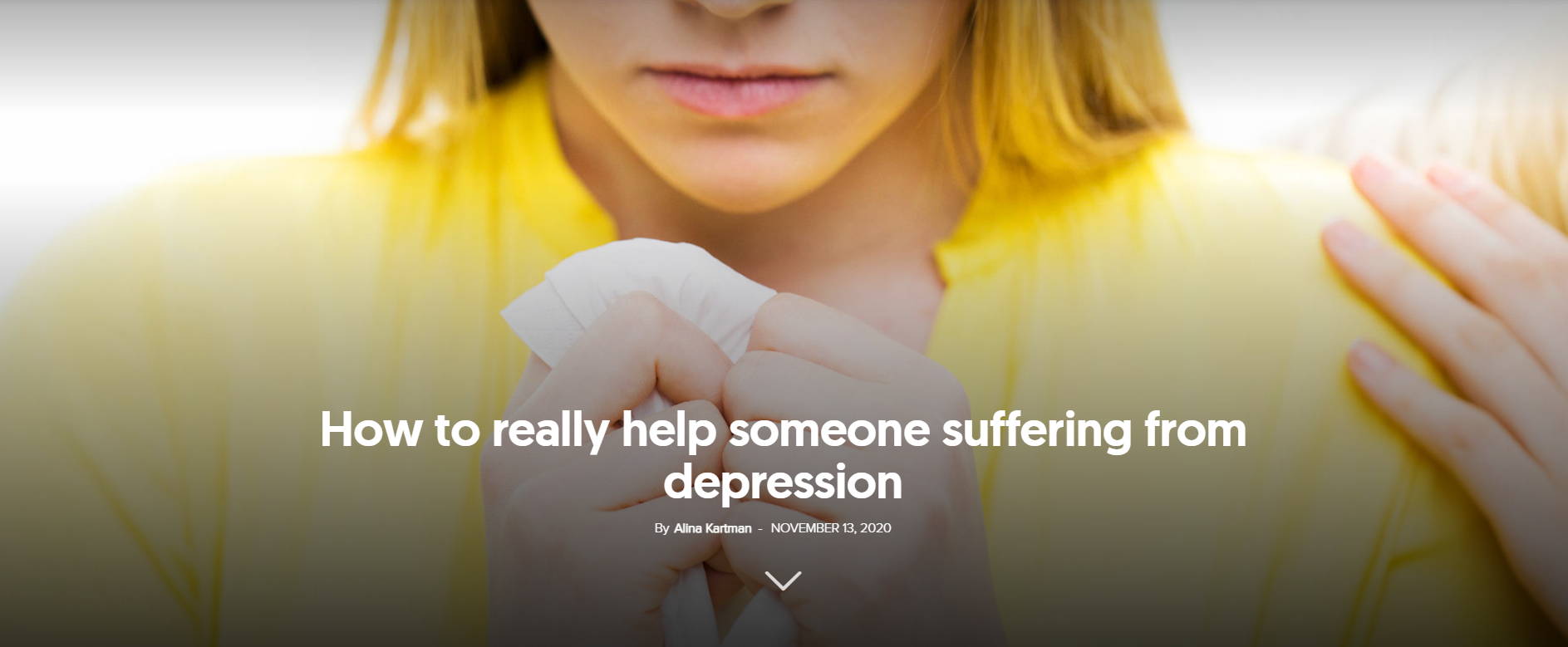 how to help someone suffering from depression