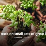 looking back on small acts of kindness